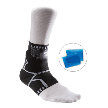 Recovery 4-way Ankle Sleeve with custom cold packs